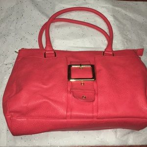 Olivia + Joy Women's Orange Red Shoulder Bag